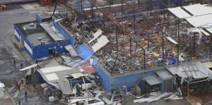 La devastación que dejó el huracán María vista desde el aire