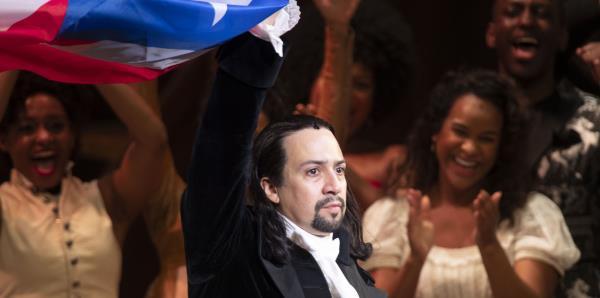 """Agradecido  Lin-Manuel Miranda tras finalizar la primera función de """"Hamilton"""""""