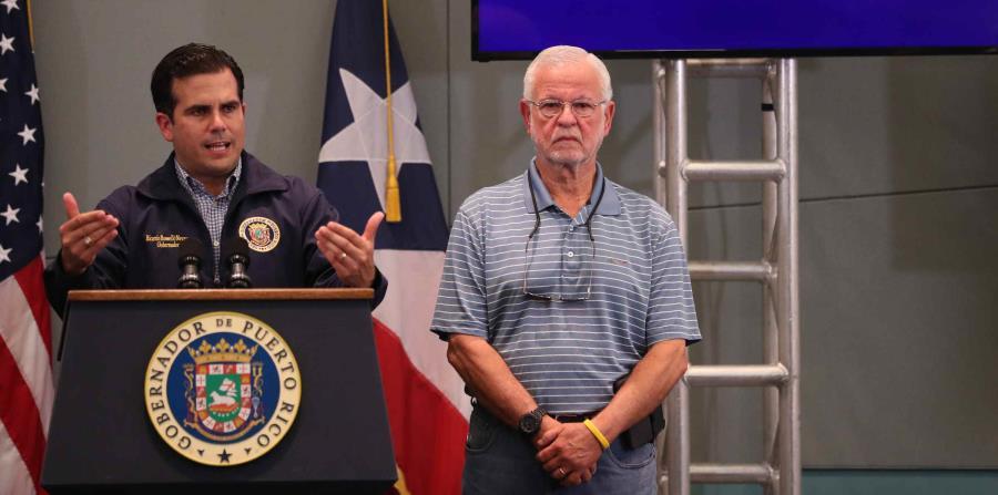 El gobernador Ricardo Rosselló y el secretario del DSP, Héctor Pesquera. (horizontal-x3)