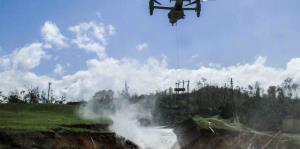 Ejército y Bomberos trabajan en Guajataca para reforzar la represa