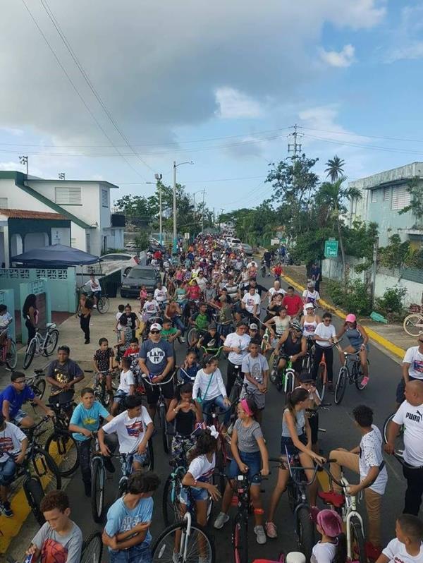 La bicicleta en movimiento por las calles del municipio. (Suministrada)