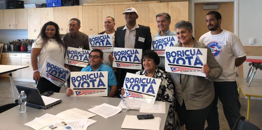 Miembros de la coalición Agenda Nacional Puertorriqueña contaron los esfuerzos que hacen para que la comunidad boricua en EE.UU. se active electoralmente. (horizontal-x3)