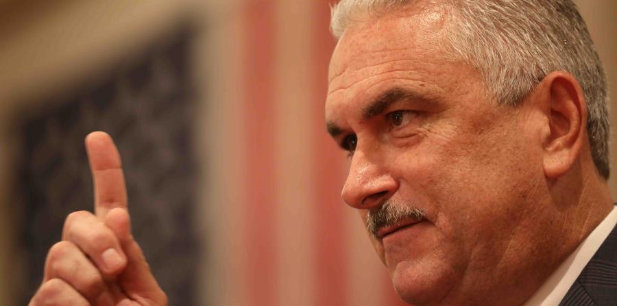 El presidente del Senado, Thomas Rivera Schatz, indicó esta tarde que combatirán a la Junta de Supervisión Fiscal en los tribunales luego de que el caucus del Partido Nuevo Progresista no llegara a un acuerdo sobre la derogación de la Ley80 (horizontal-x3)