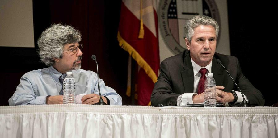 Josen Rossi, del ICSE, resaltóla ausencia de uniformidad en las decisiones energéticas. A la izquierda, Stephen Doig, del Instituto Rocky Mountain. (horizontal-x3)