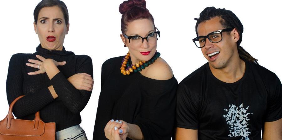 Cristina Sesto, Yaiza Figueroa y Carlos Jomar son los actores de las dos obras cortas que se presentan del 25 al 27 de abril, a las 8:30 p.m., en el teatro del Cuartel de Ballajá. (Suministrada) (horizontal-x3)