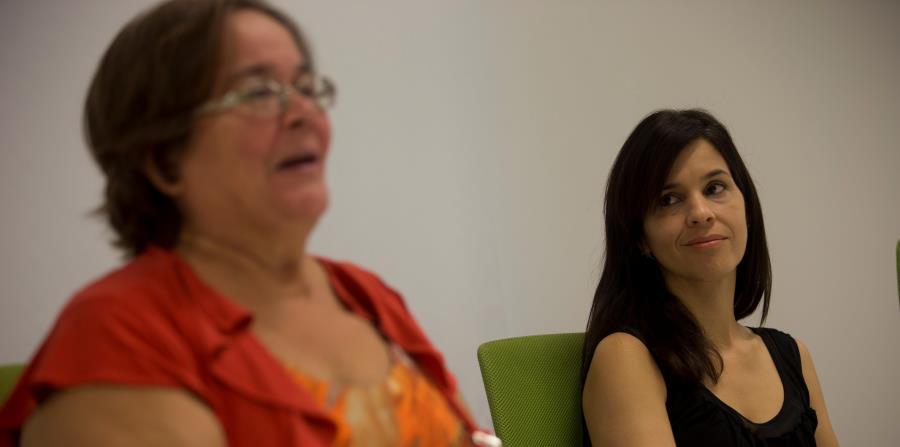 Arriba, Adalexis Ríos (izq.), de Aspira, y Sara Hernández, de Fundación Wildflower Schools, destacaron la importancia de promover el desarrollo integral del estudiante. (horizontal-x3)
