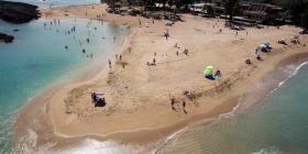Las condiciones del tiempo están ideales para ir a la playa