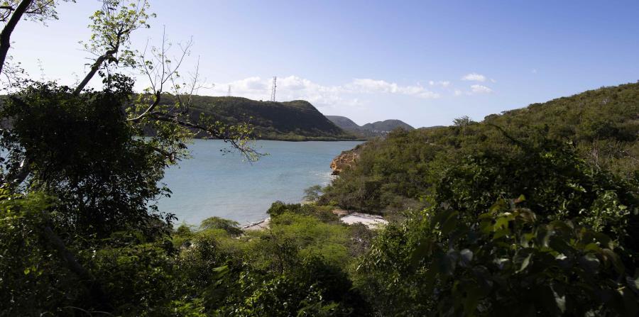 Vista desde la carretera PR-333 del balneario Caña Gorda.
