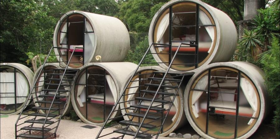 El hotel Tubo, em México, ofrece literalmente habitaciones en unos pequeños cilíndros. (Suministrada)
