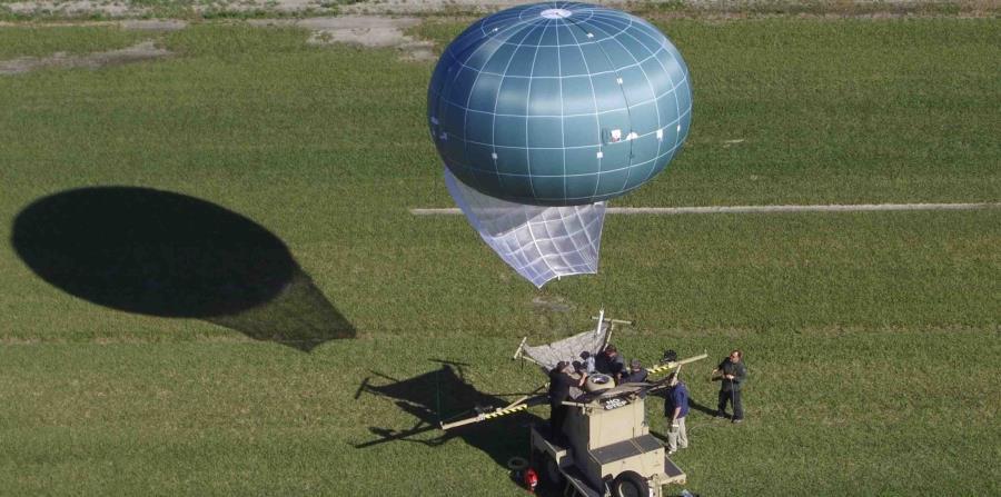 El globo aerostático Winch Aerostat Small Platform o WASP ayudaría a la Patrulla Fronteriza de Estados Unidos a detectar la entrada ilegal a ese país. (horizontal-x3)