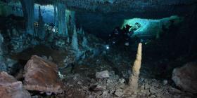 Hallan en cuevas submarinas de México algunas de las minas de ocre más antiguas del continente