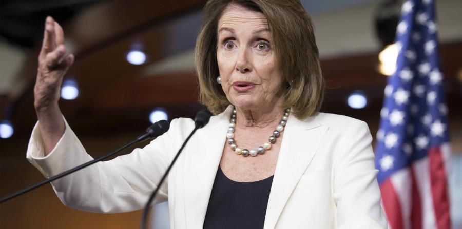 Nancy Pelosi, portavoz de la minoría cameral. (horizontal-x3)