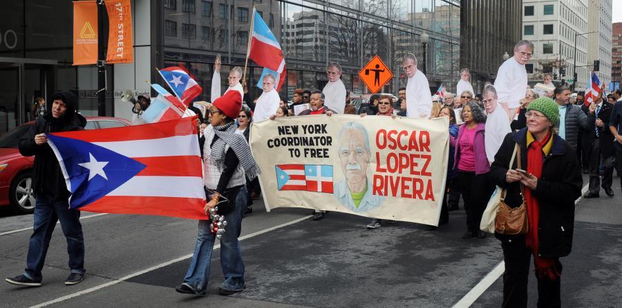 manifestación reclamo liberación de Oscar López Rivera (horizontal-x3)