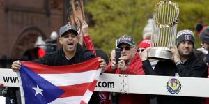 Alex Cora y los Medias Rojas celebran en Boston