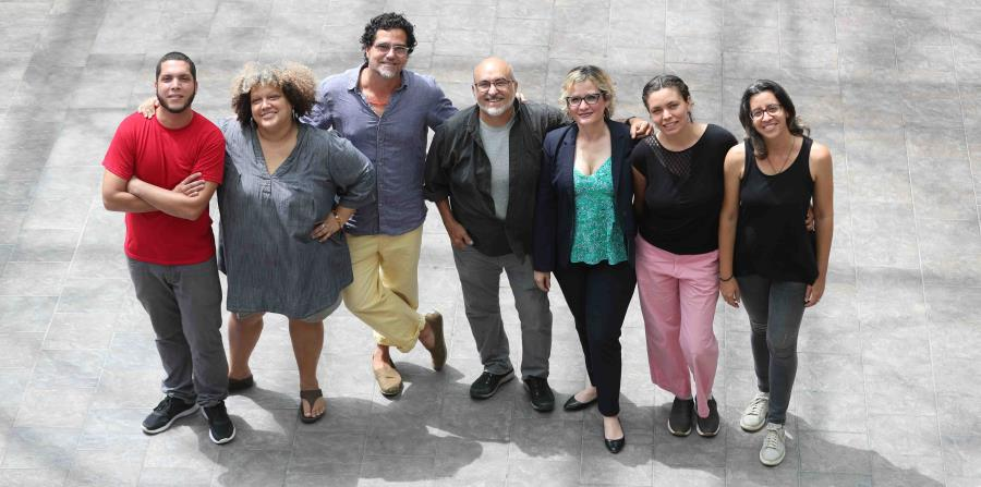 De izq. a derecha: Lionel Villahermosa, Gisela Rosario, Antonio González, Jaime Suárez, Marianne Ramírez, Llaima San Fiorenzo y Margaret Mair. (horizontal-x3)