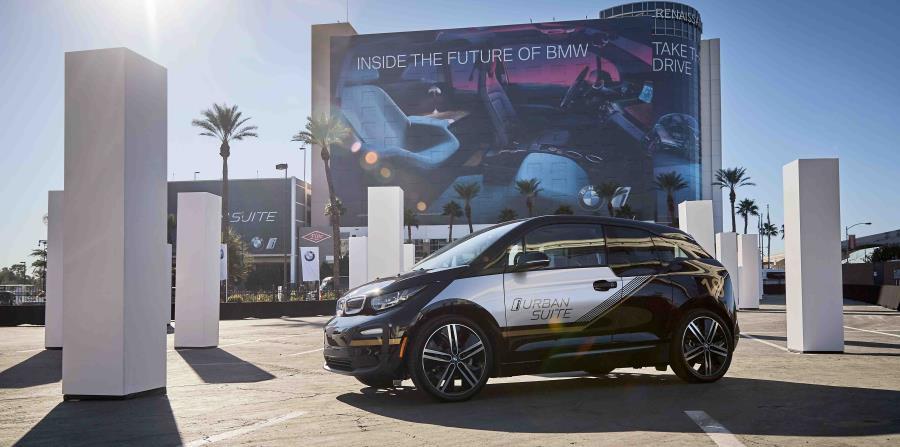Área de la prueba de manejo de BMW durante el Consumer Electronic Show, en Las Vegas. (Suministrada)