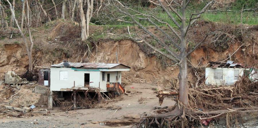 El huracán María fue el más destructivo que ha visto Puerto Rico en un siglo. En la foto, un hogar en Ciales. (horizontal-x3)