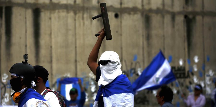 Ya van más de 100 días de manifestaciones en Nicaragua. (AP) (horizontal-x3)