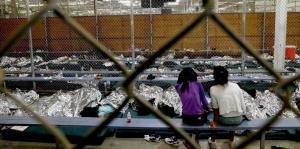 Las jaulas donde el gobierno de Trump...