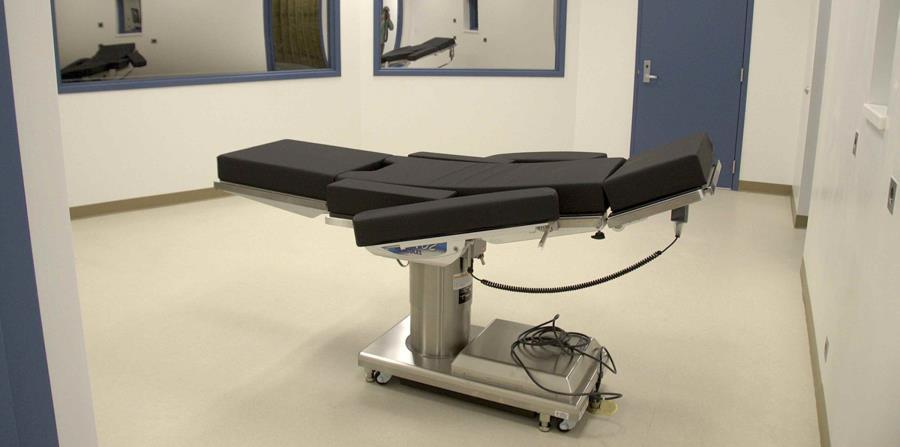 el Departamento de Prisiones de Nevada, se muestra una sala de ejecuciones en la prisión estatal Ely, en Ely, Nevada. (horizontal-x3)