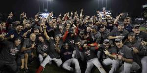 Los Medias Rojas celebran en grande el campeonato