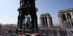 Las obras de remodelación en Notre Dame en París