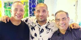 Gilberto Santa Rosa graba video musical con Isaac Delgado en La Habana