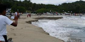Una playa mexicana se está hundiendo a causa de un extraño fenómeno