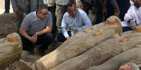 Descubren en Egipto 20 sarcófagos antiguos en perfecto estado
