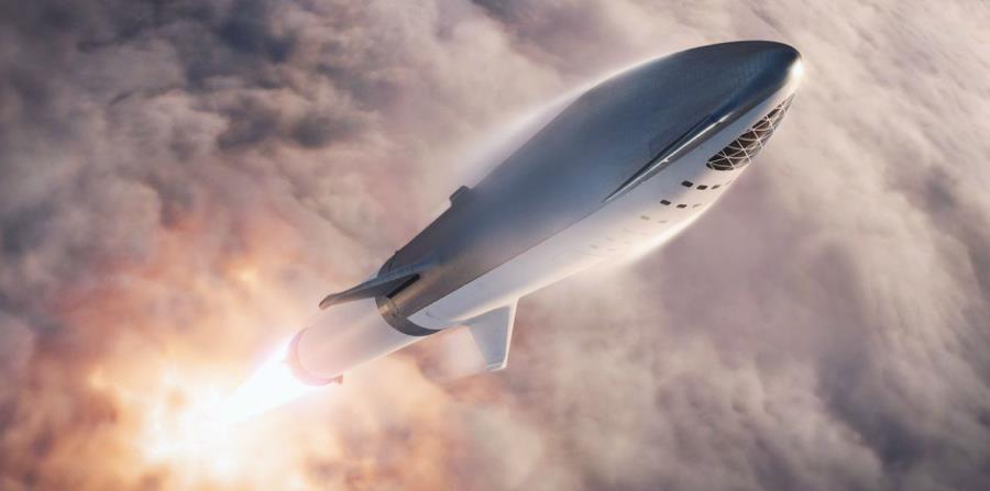 Elon Musk muestra imágenes de la nave espacial que lo llevará a Marte