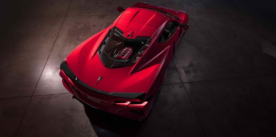 El corazón de Corvette Stingray 2020 es el motor Chevrolet V8 LT2 6.2L de bloque pequeño de última generación, el único V8 naturalmente aspirado en el segmento.  (Suministrada)