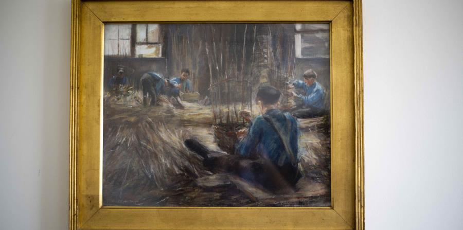 """""""Tejedores de canastos"""", obra de Max Liebermann que los nazis robaron a la familia de David Toren y que el anciano recuperó antes de fallecer por el coronavirus en Nueva York. (AP)"""