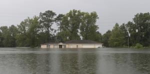 Bajo agua partes de Texas