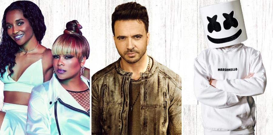 Además de Luis Fonsi, en el evento de Universal Studios Orlando se presentarán el grupo TLC, a la izquierda, y el DJ Marshmello. (Suministada)