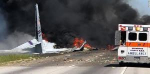 El avión militar con boricuas a bordo que se consumió en llamas