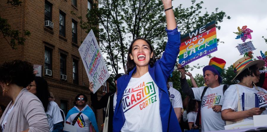 En la foto está Alexandria Ocasio, la candidata demócrata progresista. (horizontal-x3)