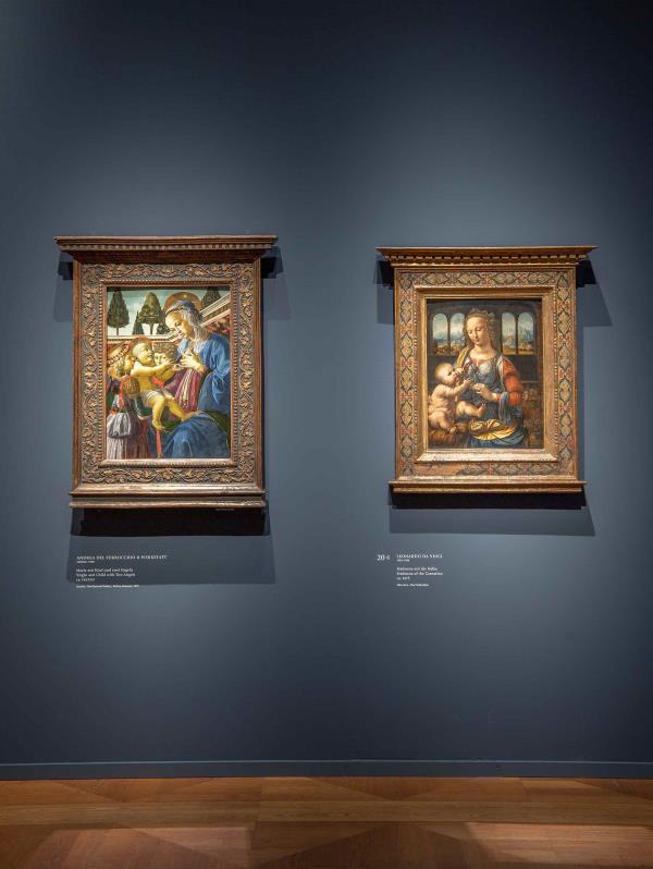 Verrocchio y Da Vinci en la Antigua Pinacoteca de Múnich.