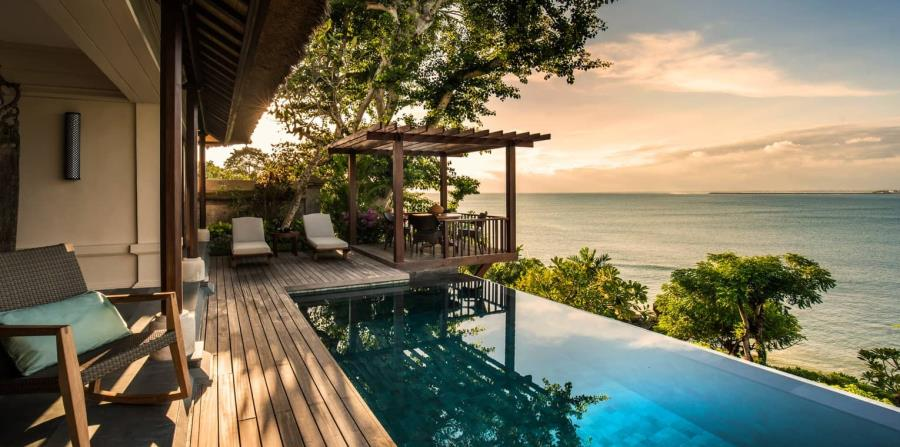 Hospederías como el Four Seasons Bali Jimbaran Bay, maximizan el contacto con la naturaleza balinesa. (Suministrada)