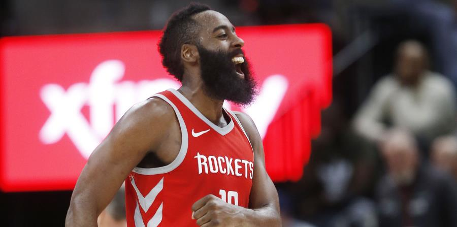 James Harden, de los Rocket de Houston, es el líder encestador de la liga. (horizontal-x3)