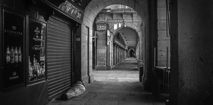 Calle vacía coronavirus
