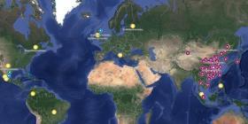 Mapa interactivo muestra en tiempo real los casos de coronavirus
