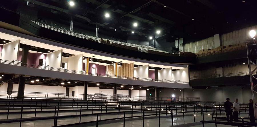 Así es el espacio para estar de pie en el Coca Cola Music Hall. (Rut Tellado)