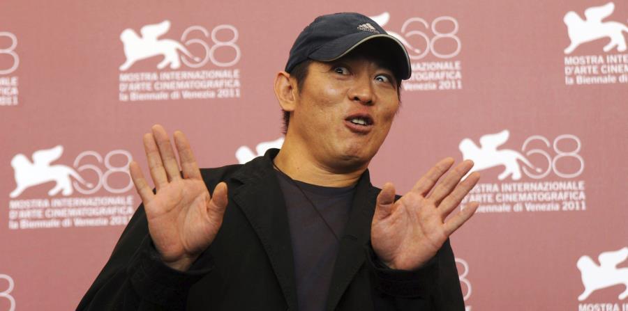 Foto de archivo de la ocasión en la que el actor chino Jet Li presentaba la película