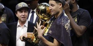 Los Warriors festejan el campeonato de la NBA