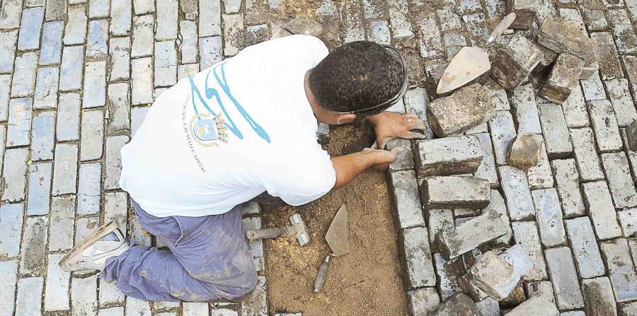 Los trabajos de instalación de adoquines que faltan será en la calle San Justo. (GFRMedia) (horizontal-x3)