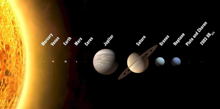 El sistema solar tiene ocho planetas: Mercurio, Venus, la Tierra, Marte, Júpiter, Saturno, Urano y Neptuno y los planetoides Ceres, Plutón y el llamado 2003 UB313, llamado provisionalmente Xena. (Archivo / EFE) (horizontal-x3)