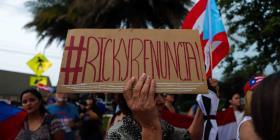 Boricuas en Orlando marchan por segundo día para pedir la renuncia de Rosselló