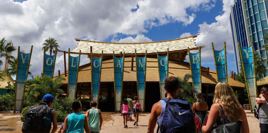 La entrada de Volcano Bay, el parque acuático del Universal Orlando Resort.