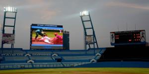 Estrenan moderna pizarra en el Estadio Latinoamericano