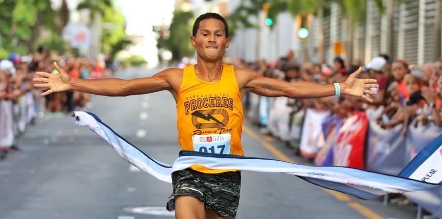 Fernando Ojeda fue el primer atleta en llegar a la meta con tiempo de 14:51 minutos. (Suministrada) (horizontal-x3)